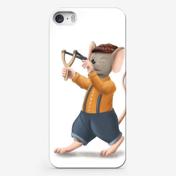 Чехол iPhone «Мышонок с рогаткой»