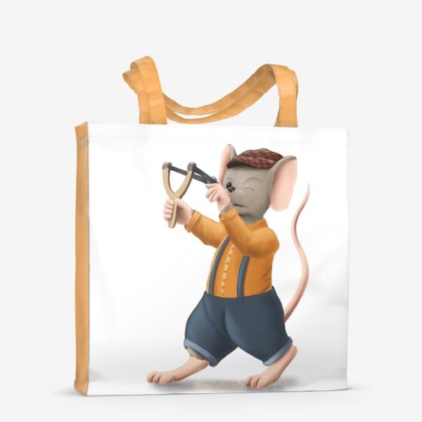 Сумка-шоппер «Мышонок с рогаткой»