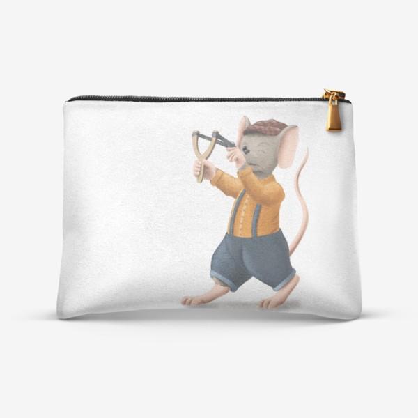 Косметичка «Мышонок с рогаткой»