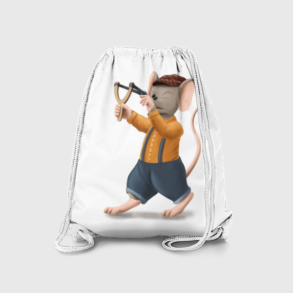 Рюкзак «Мышонок с рогаткой»