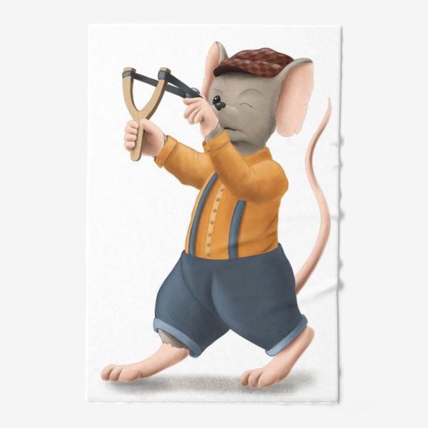 Полотенце «Мышонок с рогаткой»