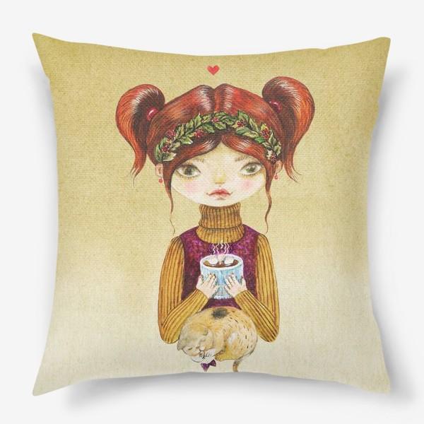 Подушка «Кофе и котик»