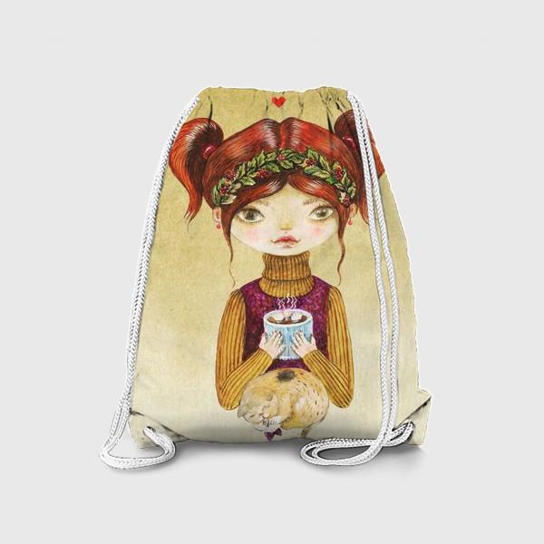 Рюкзак «Кофе и котик»