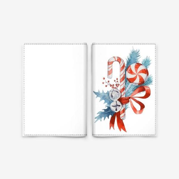 Обложка для паспорта «Рождественские леденцы. Новый год»