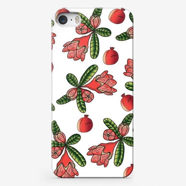 Чехол iPhone «Гранаты и цветы»
