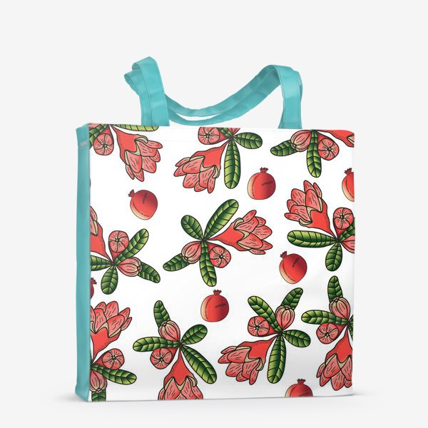 Сумка-шоппер «Гранаты и цветы»
