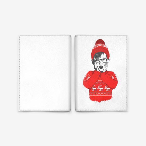 Обложка для паспорта «Один дома»