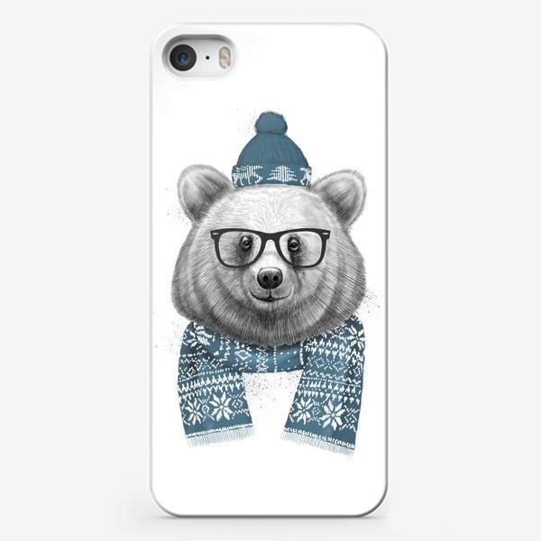 Чехол iPhone «Зимний медведь»