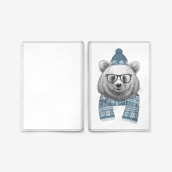 Обложка для паспорта «Зимний медведь»