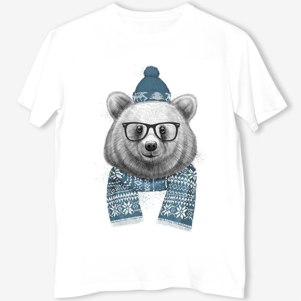 Футболка «Зимний медведь»