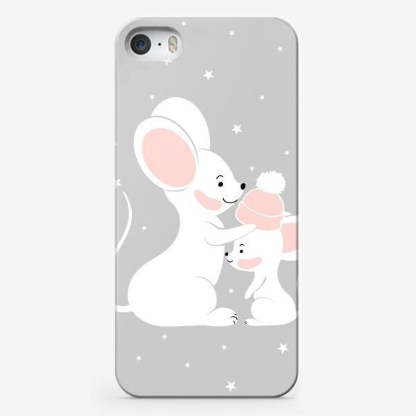 Чехол iPhone «Мама мышь с малышом (серия)»