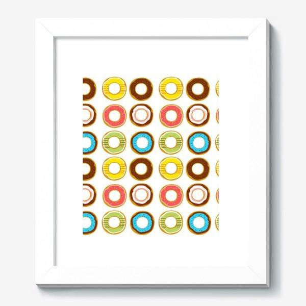 Картина «Пончики. Донатсы. Сладкий паттерн»