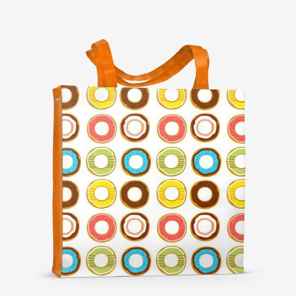 Сумка-шоппер «Пончики. Донатсы. Сладкий паттерн»