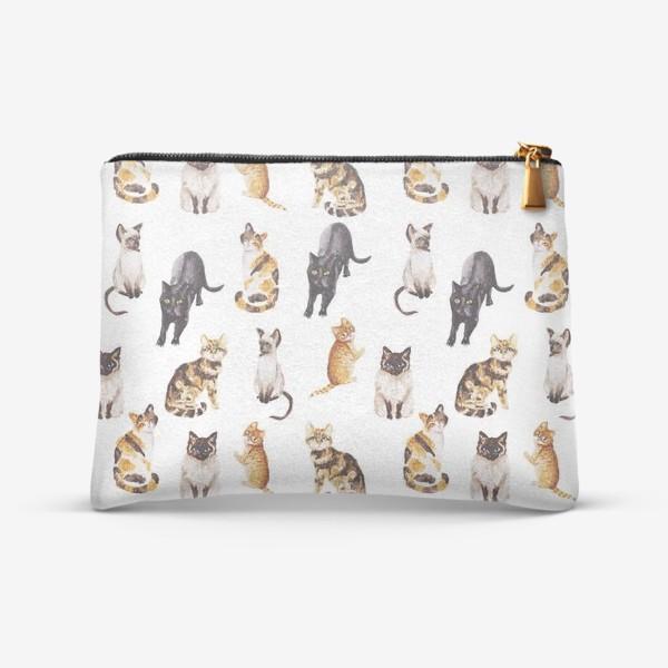 Косметичка «Акварельные котики»