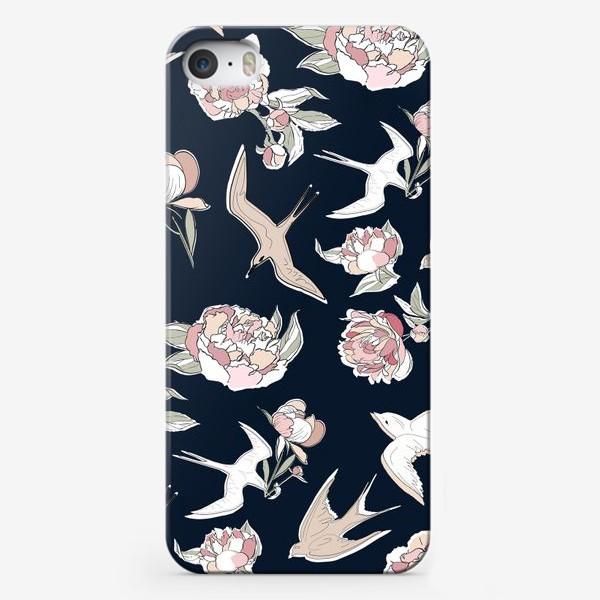 Чехол iPhone «Ласточки и пионы»