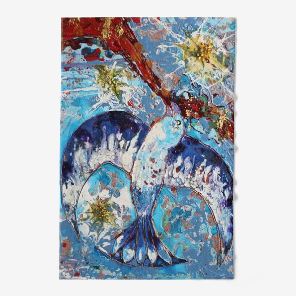 Полотенце «Синяя птица счастья»