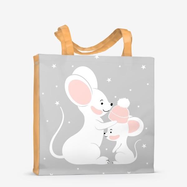 Сумка-шоппер «Мама мышь с малышом (серия)»