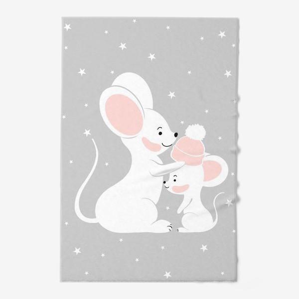 Полотенце «Мама мышь с малышом (серия)»
