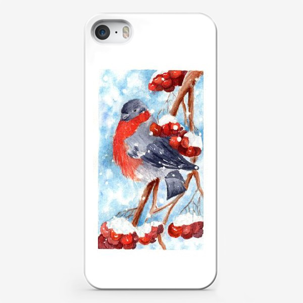Чехол iPhone «Снегирек»