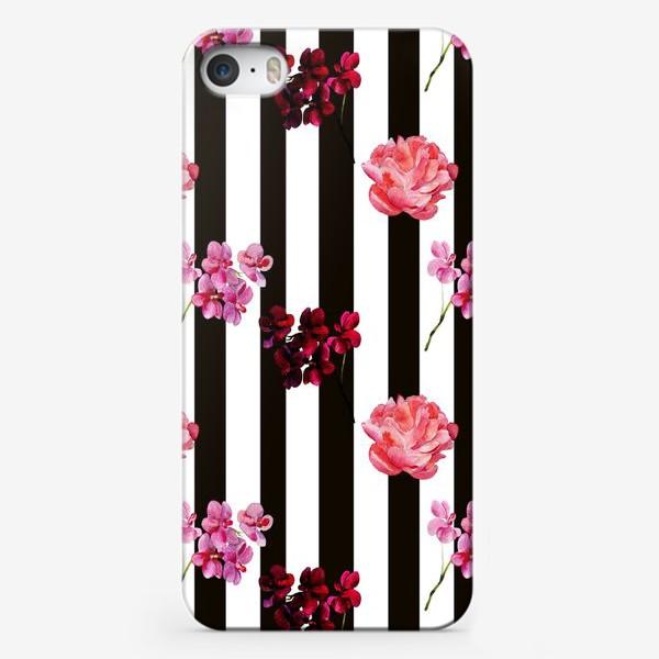 Чехол iPhone «орхидея и пион»