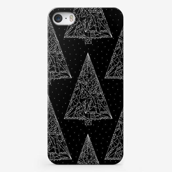 Чехол iPhone «Елки черные»
