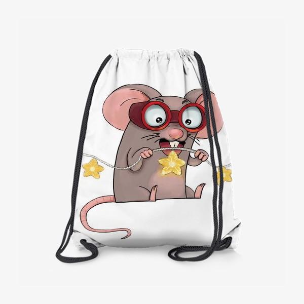 Рюкзак «Мышонок и гирлянда. Новый Год 2020»