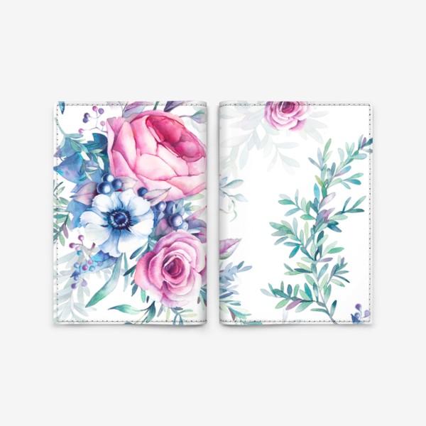 Обложка для паспорта «Ботанический паттерн»