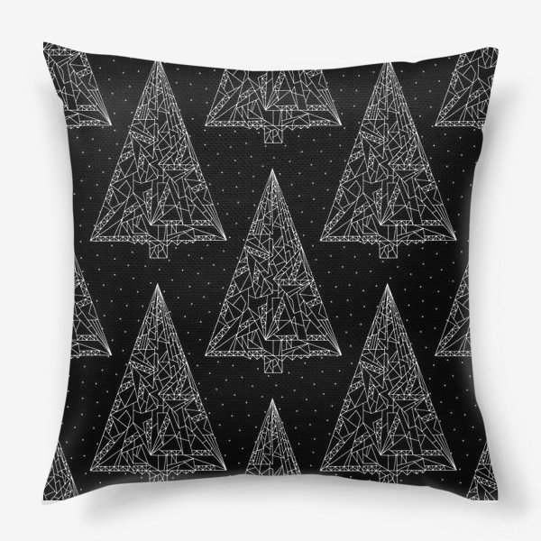 Подушка «Елки черные»