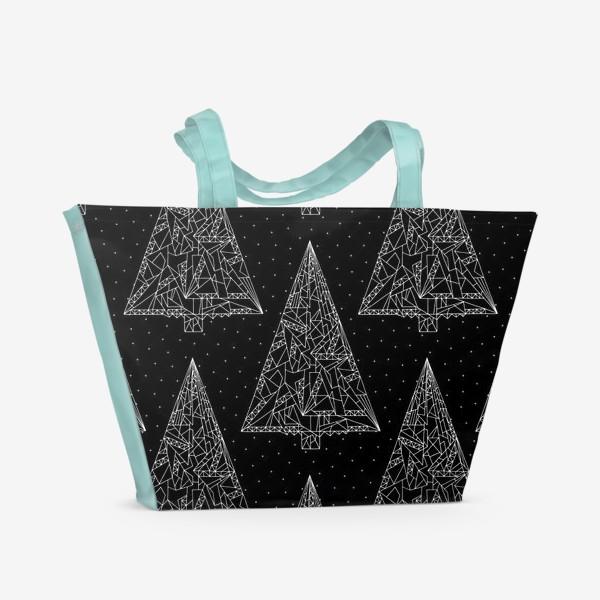 Пляжная сумка «Елки черные»