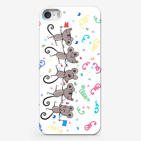 Чехол iPhone «Мышиный праздничный хоровод»