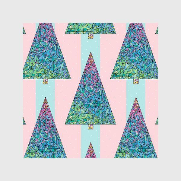 Шторы «Елки кристаллы геометрические»