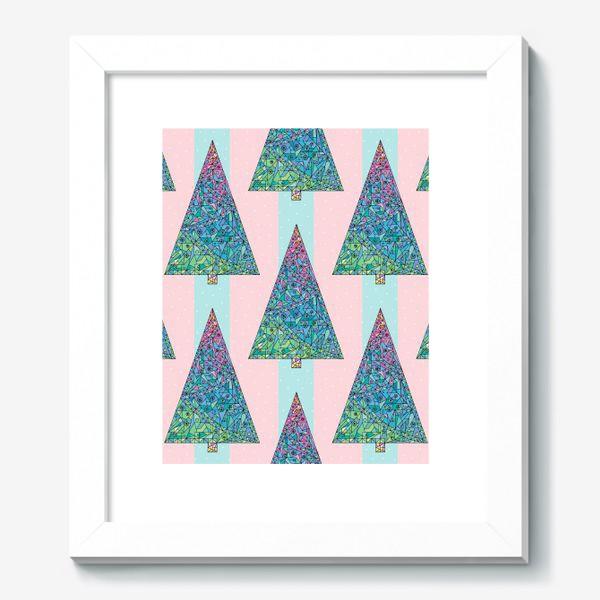 Картина «Елки кристаллы геометрические»