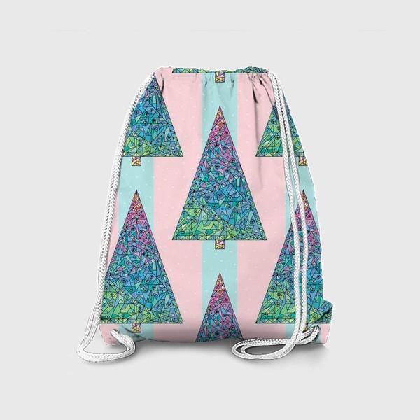 Рюкзак «Елки кристаллы геометрические»