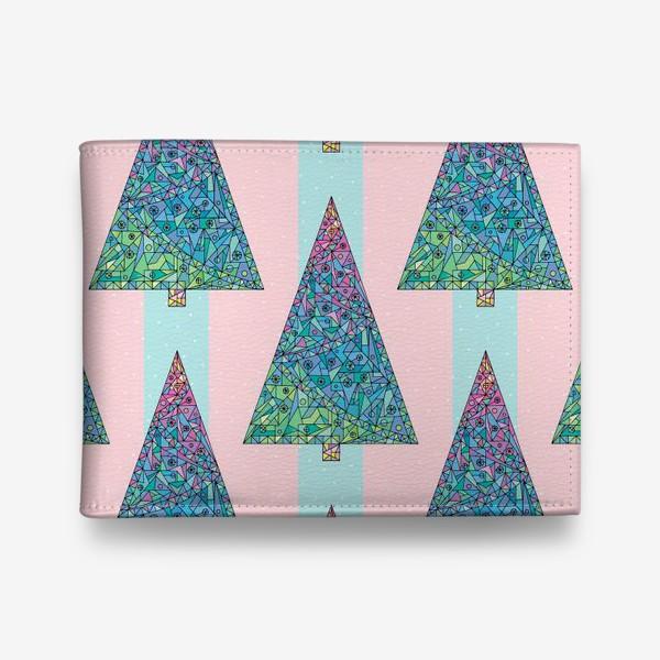 Кошелек «Елки кристаллы геометрические»