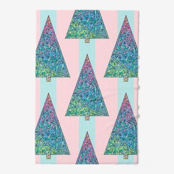 Полотенце «Елки кристаллы геометрические»