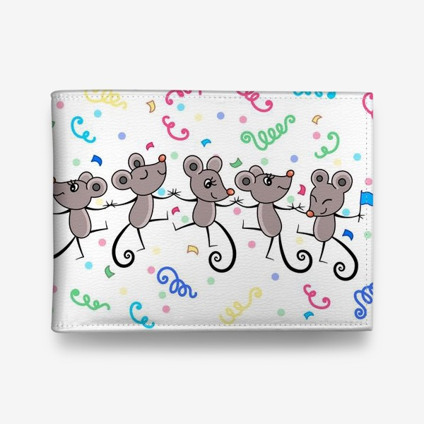 Кошелек «Мышиный праздничный хоровод»