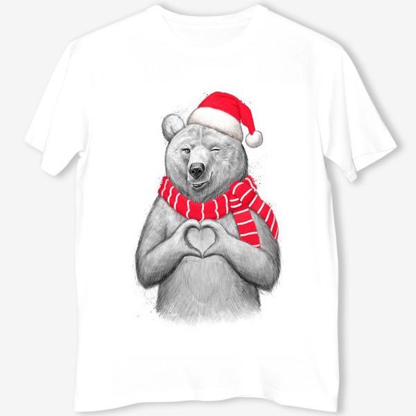 Футболка «Новогодняя медведица»