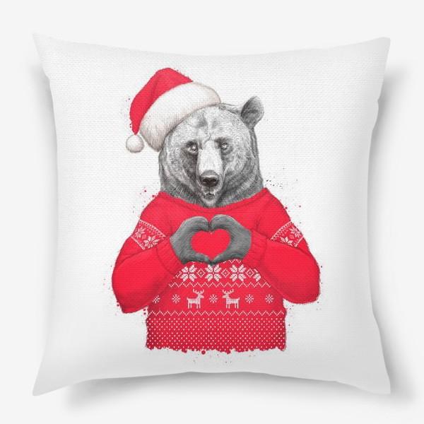Подушка «Новогодний медведь»