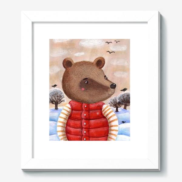 Картина «Мишка в красном жилете»