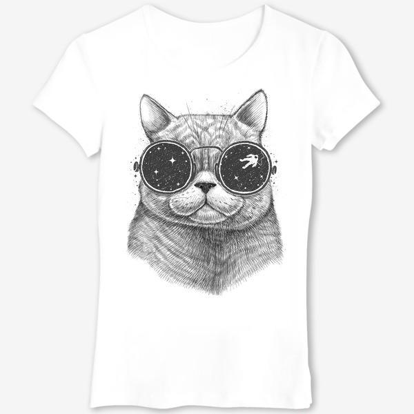 Футболка «Кот в космических очках»