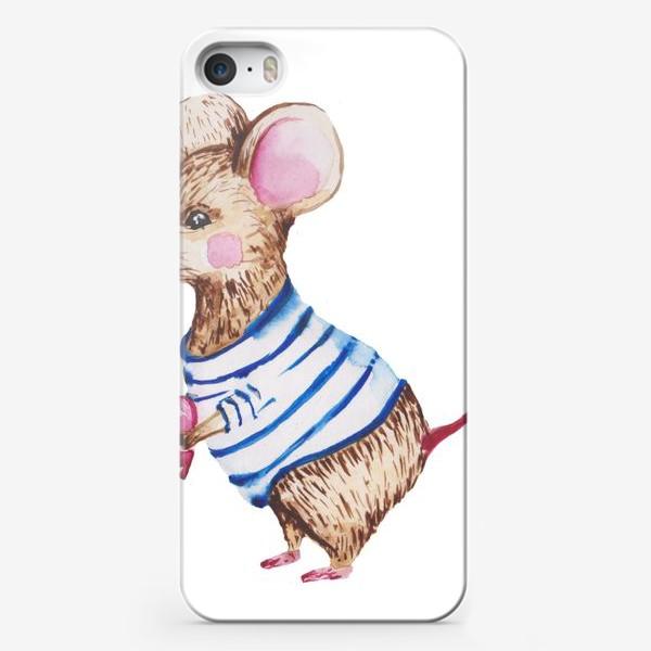 Чехол iPhone «Мышь с сердцем »