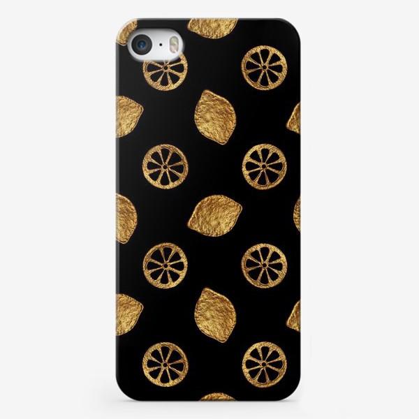 Чехол iPhone «Золотые лимоны»