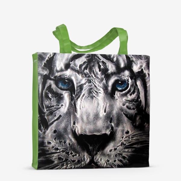 Сумка-шоппер «тигр с голубыми глазами»