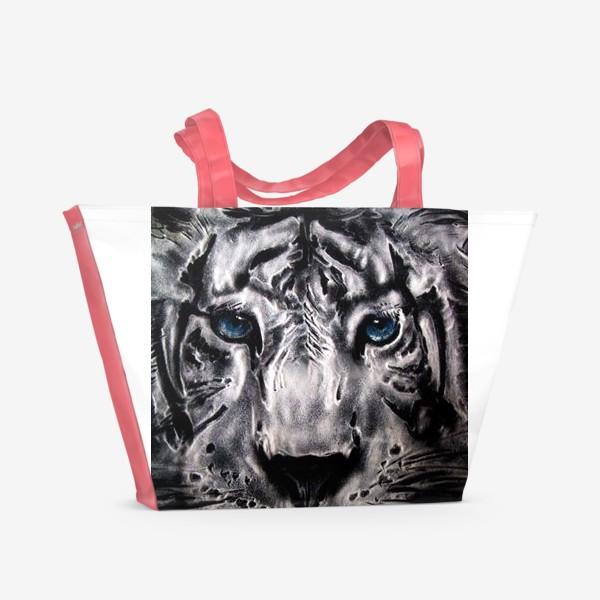 Пляжная сумка «тигр с голубыми глазами»