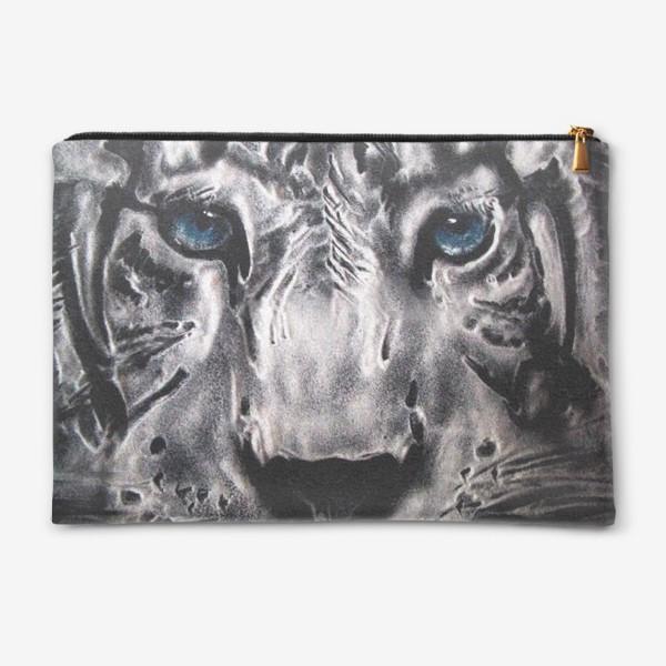 Косметичка «тигр с голубыми глазами»