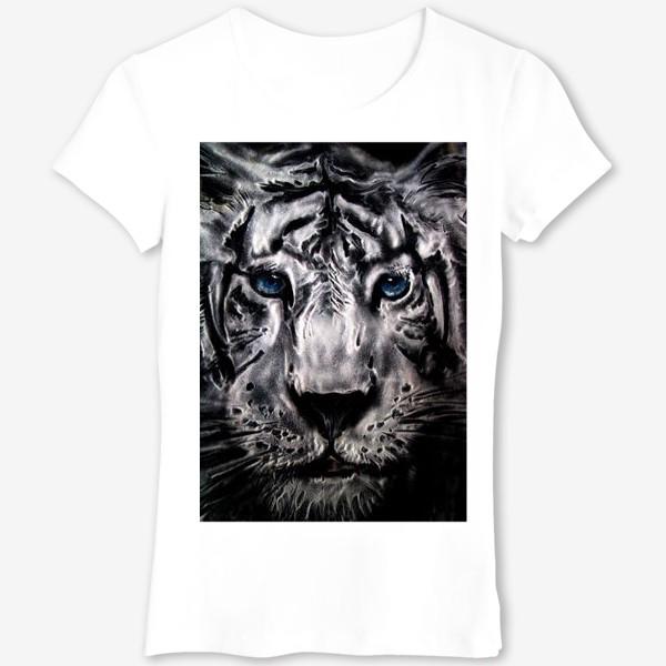 Футболка «тигр с голубыми глазами»