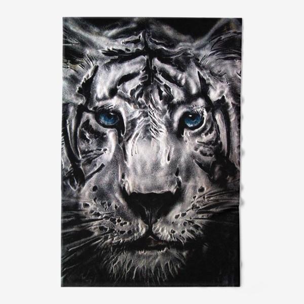 Полотенце «тигр с голубыми глазами»