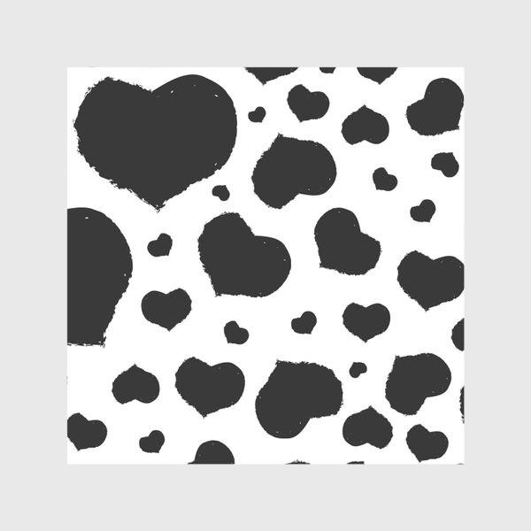 Скатерть «Черные сердечки ко дню Влюбленных »