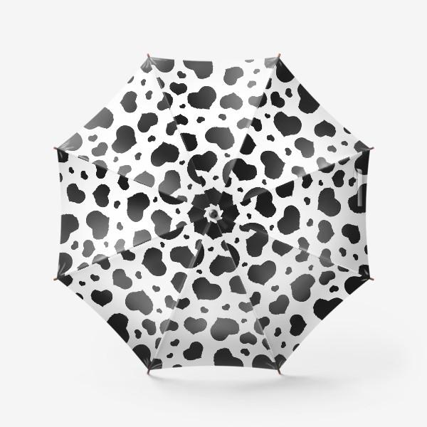Зонт «Черные сердечки ко дню Влюбленных »