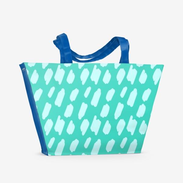 Пляжная сумка «мятний абстрактный фон из пятен краски»